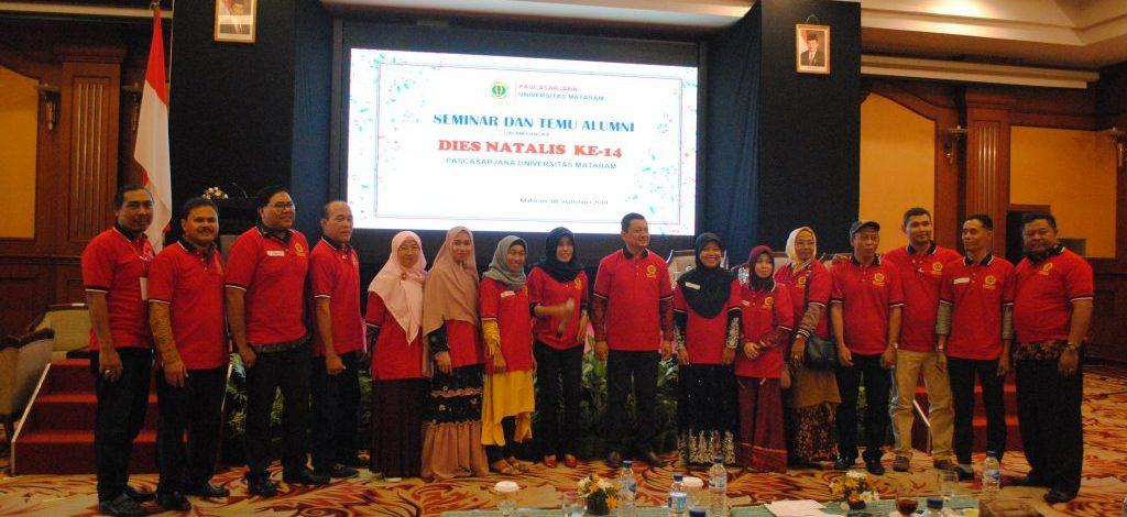 Seminar dan Temu Alumni Pascasarjana Unram dalam Rangka Dies Natalis Pascasarjana ke-14.